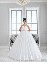 Bridal Dress: Sans Pareil Bridal Collection 2016: 1021 - Softly gathered voluminous ball gown with ruched bodice and ornate waistband