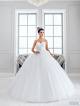 Bridal Dress: Sans Pareil Bridal Collection 2016: 1024 - Stiff shimmer sweetheart bodice meets misty tulle ball gown skirt