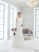Bridal Dress: Sans Pareil Bridal Collection 2016: 989 - All-over lace details in classic fit and flare wedding dress